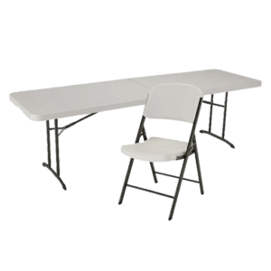 Tables and chairs rental