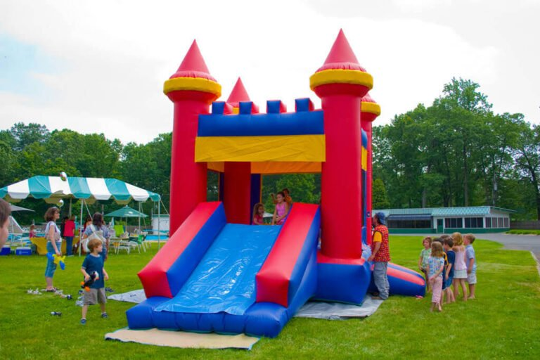 combo castle and slide