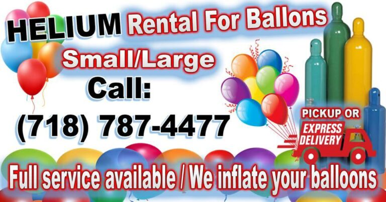 Helium tank rental in Westchester NY